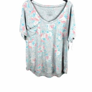 GRAYSON THREAD TOP FLORAL GRAY WITH POCKET